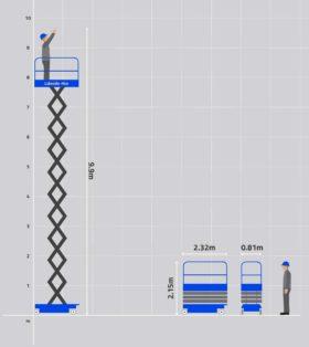 26' Electric Scissor Lift Hire