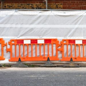 Plastic Safety Barrier Hire In